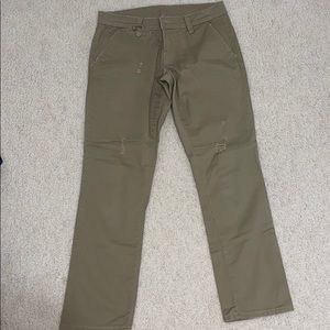 Almost Famous ripped khaki pants